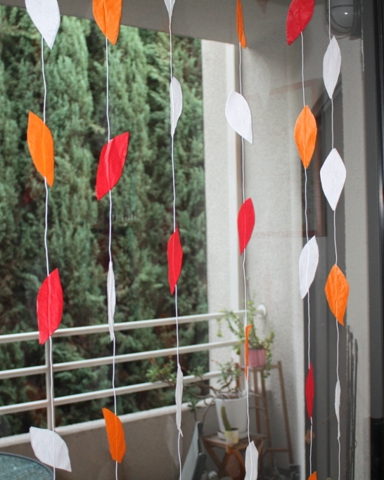 DIY Tissue Paper Leaf Backdrop